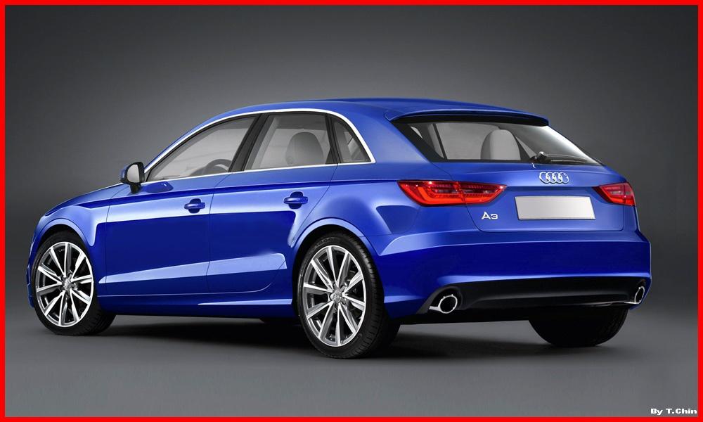 Audi A3 Sportback 2012 vue extérieur 3