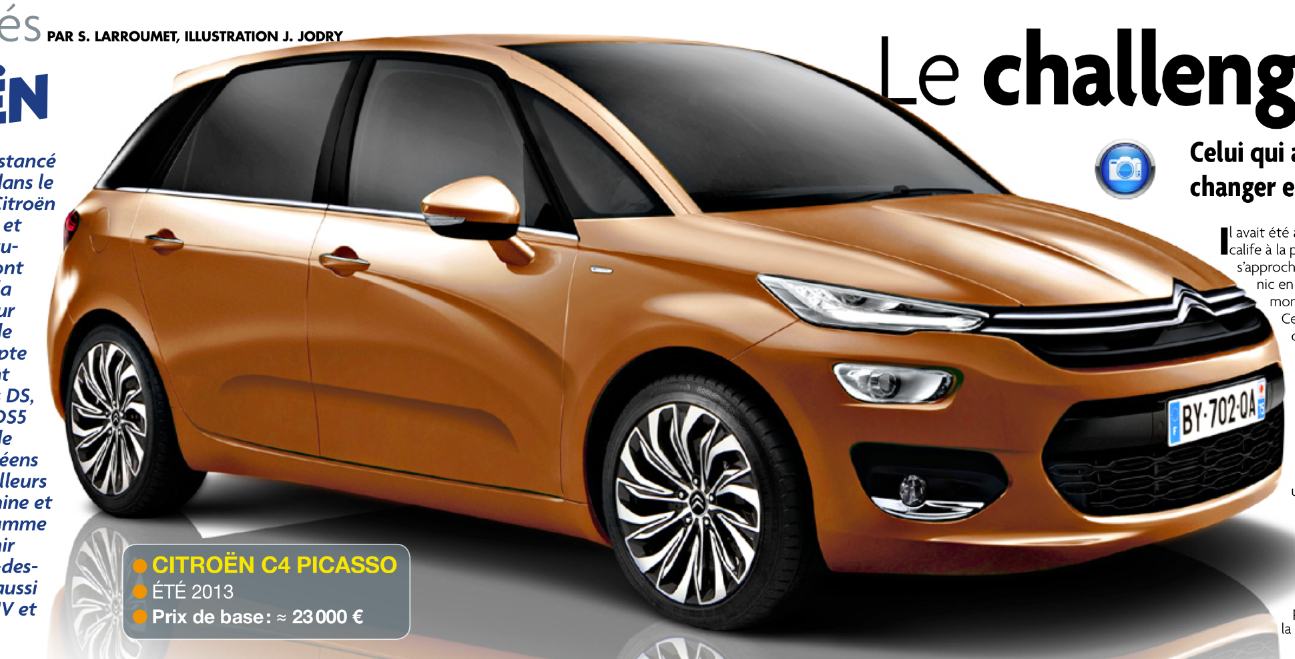 la c4 picasso nouvelle g n ration pr vue pour l t 2013 news auto. Black Bedroom Furniture Sets. Home Design Ideas