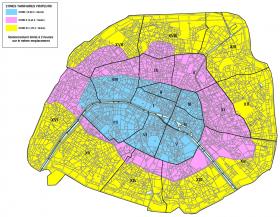 Les différentes zones de parking à Paris