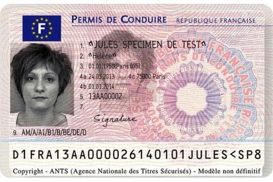 nouveau permis de conduire en France