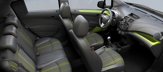 Interieur de la Chevrolet Spark