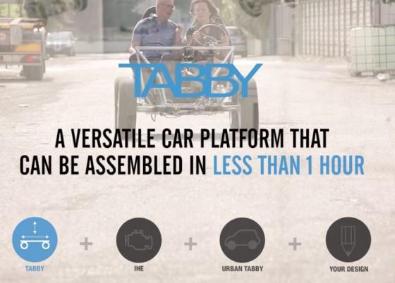 Urban Tabby un concept car à monter soi-même !