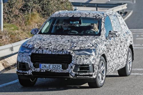 Les premières photos volées du futur Audi Q7