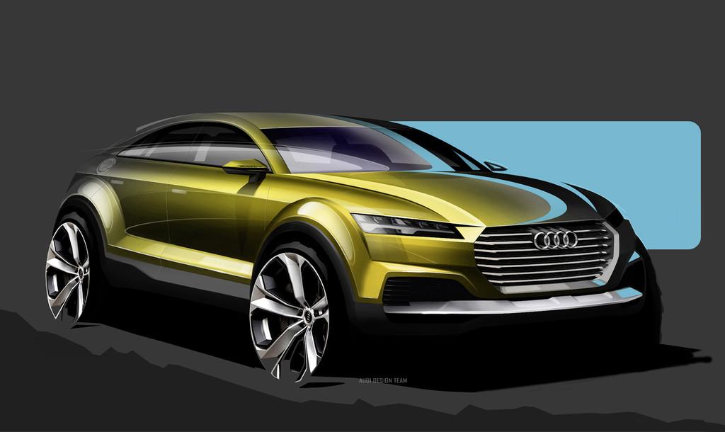 Audi Q4 : seulement trois esquisses sur le concept-car Audi au salon de Pékin