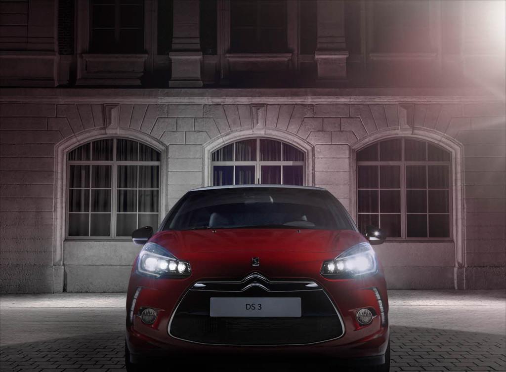 Léger restylage de la Citroën DS3 2014 pour ses phares et moteurs