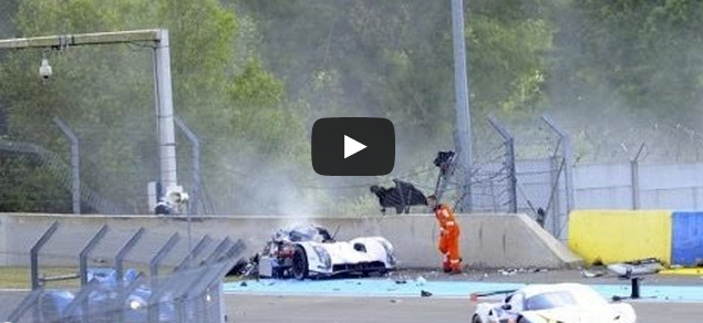 [VIDEO] Crash de l'Audi de Loïc Duval au 24h du Mans