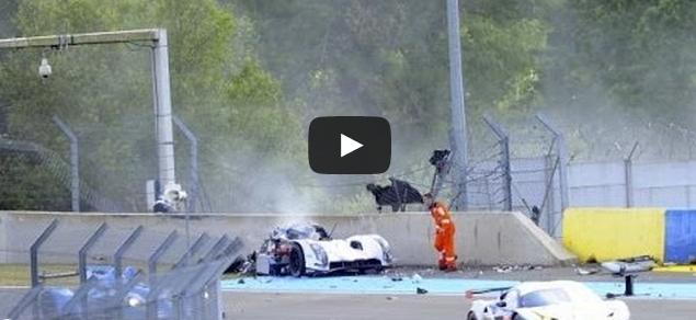 video accident Audi 24h du Mans