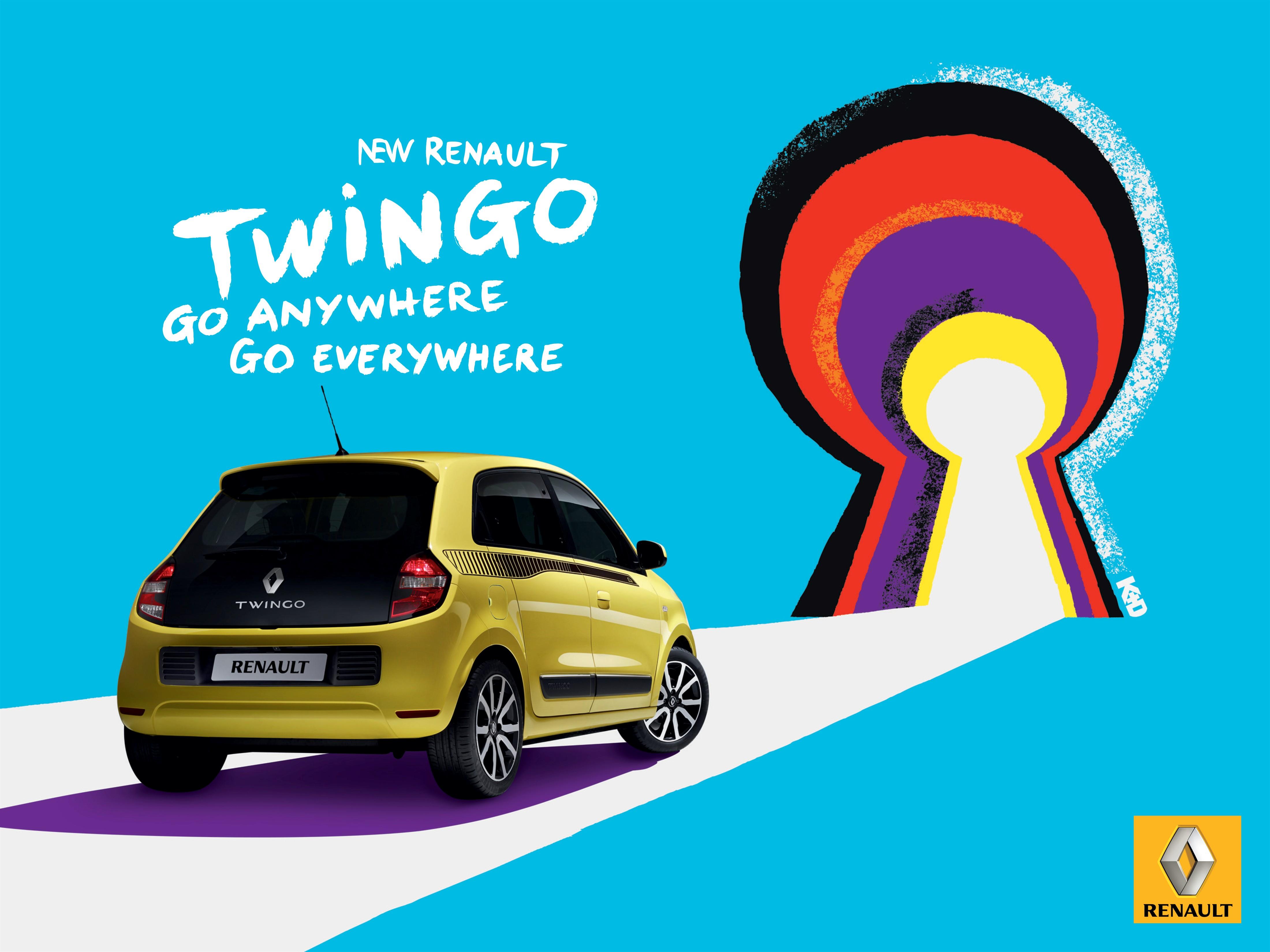 Nouvelle Twingo : « aller n'importe où, aller partout » nouvelle campagne pub chez Renault