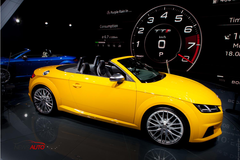 Nouvelles TT et TTS Roadster : présentation sur le stand Audi du Mondial de l'auto