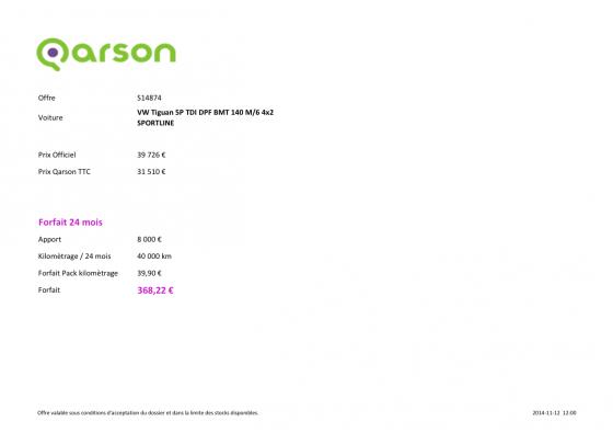 Qarson&Go 20 000 km