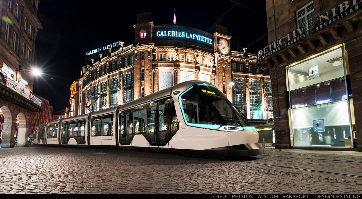 Le futur tramway de Strasbourg conçu avec le département Design & Styling d'Alstom Transport et Peugeot Design Lab