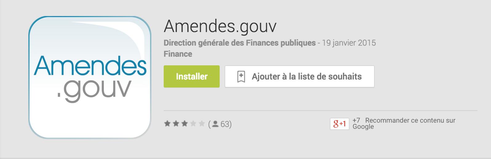 amendes.gouv est désormais disponible sur iTunes et GooglePlay pour payer vos amendes. L'application est en téléchargement gratuit.