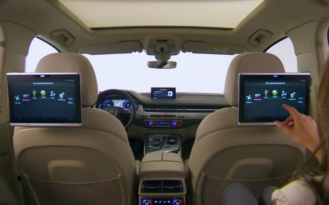 L'Audi Q7 propose aux passagers arrière une tablette tactile