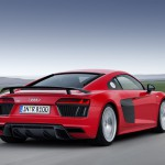 Arrière de la nouvelle Audi R8 V10 Plus
