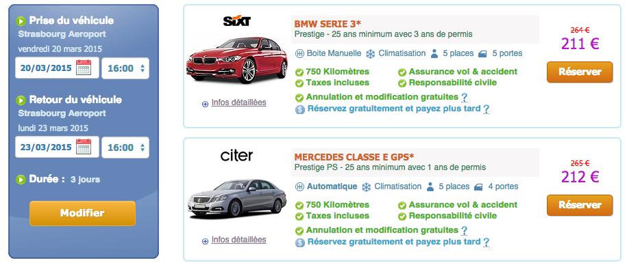 Location d'une véhicule Mercedes Classe E  en France