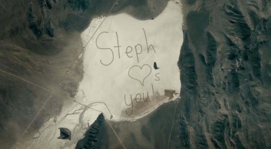 Message de Stéphanie à son père astronaute