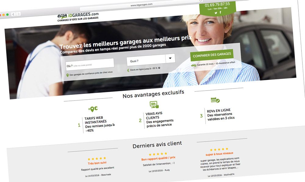 iDGARAGES : le comparateur de garagistes en ligne