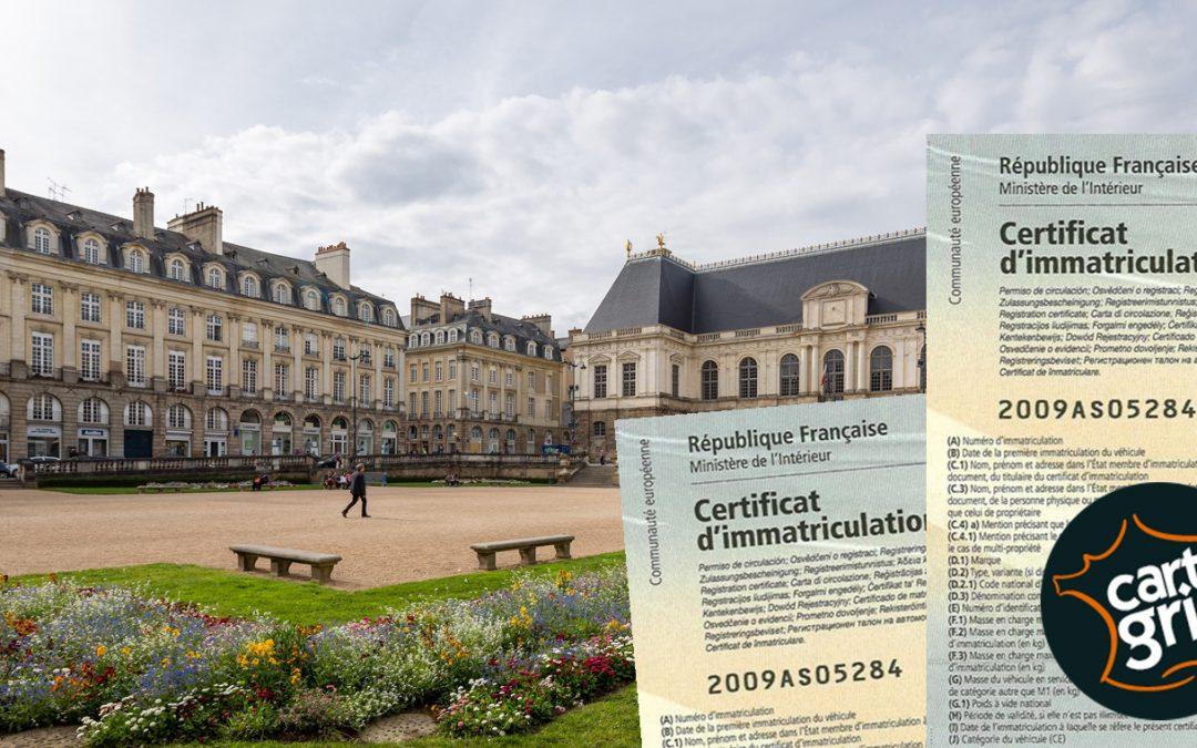 Carte grise Bretagne: augmentation de 5 euros par cheval fiscal au 1er mai !