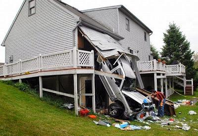 accident voiture garage