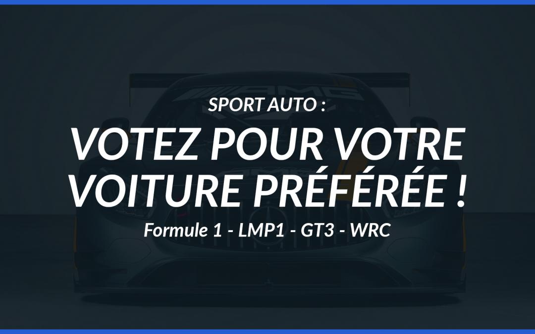 Sport auto : votez pour votre voiture préférée