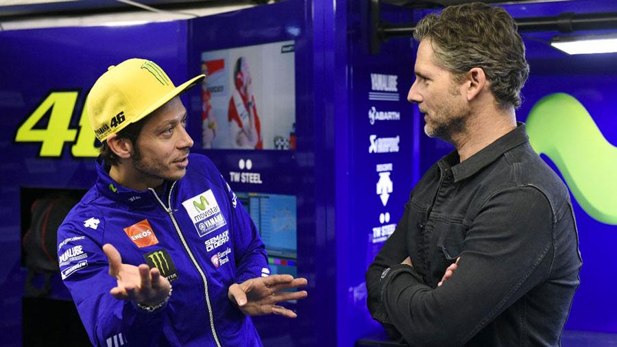 Valentino Rossi et Eric Bana